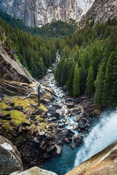 A Plus Photos: Mist Trail, Vernal Falls, Yosemite Park Places To Travel, Places To See, Beautiful World, Beautiful Places, Beautiful Beautiful, Les Cascades, Parcs, Places Around The World, Vacation Spots