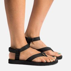 Teva Black Sandals for Italy Trip