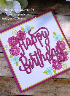 VIDEO: Stampin Up Happy Birthday Gorgeous Card from The Stampin b thestampinb.com