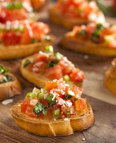 These Tomato Basil Bruschetta are perfect for a snack or as a great appetizer for a party. One of the best ways to enjoy the Summer's bounty for sure! | eatwell101.com