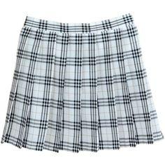 Women School Uniforms plaid Pleated Mini Skirt ($14) ❤ liked on Polyvore featuring skirts, mini skirts, blue pleated skirt, plaid pleated skirts, mini skirt, short plaid mini skirt and pleated skirts