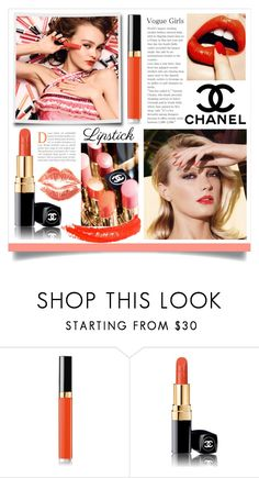 """Chanel Rouge Coco Lipstick"" by rosalind10 ❤ liked on Polyvore featuring beauty, Chanel, Topshop, beautyset and springlips"