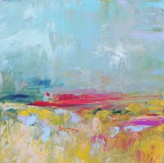 Abstract Landscape 'Lyrical Landscape 3' by Sally Kelly