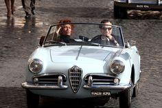 Sophia Loren and Daniel Day Lewis on Alfa Romeo