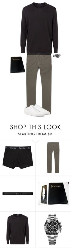 """Light Yagami"" by kevin-whitcanack on Polyvore featuring Calvin Klein Underwear, Tom Ford, Yves Saint Laurent, Rolex, James Perse, men's fashion and menswear"