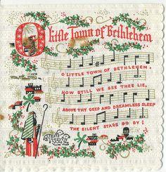 Holidays, Mary Christmas, Cards, Text & Clip Art..O Little Town of Bethlehem