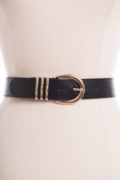 True Love Belt, Black-Gold - The Mint Julep Boutique
