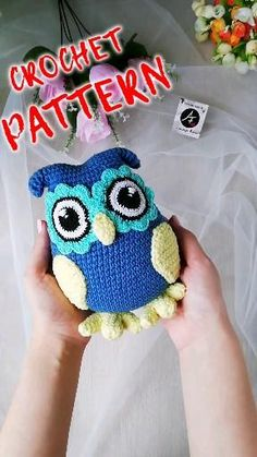 Crochet Owl Hat, Owl Crochet Patterns, Owl Patterns, Amigurumi Patterns, Crochet Animals, Crochet Dolls, Plush Animals, Crochet For Kids, Easy Crochet