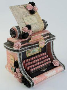 Máquina de escribir álbum- Tutorial Tara Brown