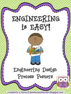 Engineering Design Process Posters Multi Colors