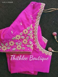 For customising your outfits - whatsapp 9133502232 Brocade Blouse Designs, Saree Blouse Neck Designs, Fancy Blouse Designs, Designer Blouse Patterns, Kurti Neck Designs, Bridal Blouse Designs, Sleeve Designs, Hand Work Blouse Design, Maggam Work Designs