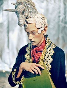 Clash of the Creative Titans Unicorn Hat, Unicorn Fashion, Horse Photos, Vogue, Headgear, Dandy, Headdress, Wearable Art, Editorial Fashion
