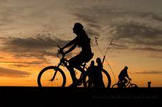 Silhouettes - Karoo Desert, South Africa. AfrikaBurn - Jacki Bruniquel