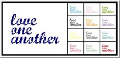 love one another free printable