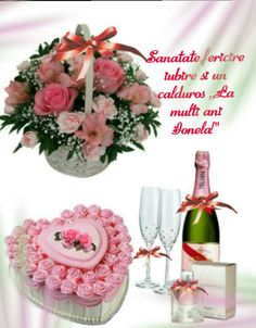 Champagne, Happy Birthday, Lily, Table Decorations, Diana, Sunday, Happy Brithday, Domingo, Urari La Multi Ani