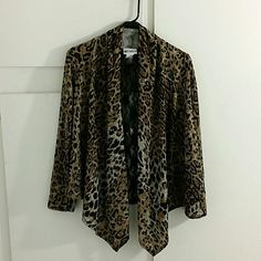 Hot Ginger leopard cardigan Sexy Vibrant print. Open cardigan. Perfect for cool nights! Hot Ginger Tops
