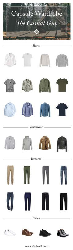 A Capsule for The Casual Guy — CLADWELL GUIDE                                                                                                                                                                                 More
