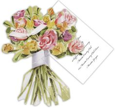 Spring Bouquet Die-cut Invitations