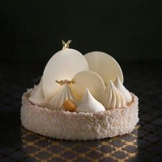 Coconut cheese tart...