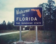 oh the feeling you get when you see the FL state sign :) Knowing your that much closer to warmth, sun, sand, and the ocean is an unexplainable feeling. I just want to go there and see family and friends!!!! Plus the BEACh is a must!!