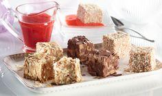 Karamellpudding mit Erdbeersoße - Ein Karamelldessert mit Kokos, Schokolade oder Haselnüssen
