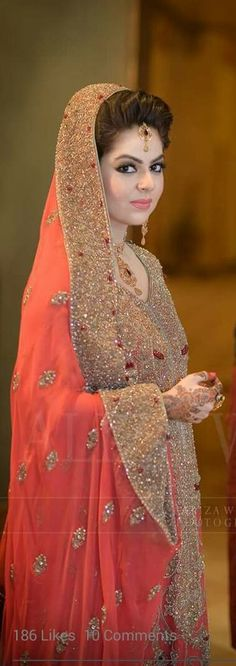 Bridal lehenga coral colour New ideas Indian Bridal Fashion, Pakistani Wedding Dresses, Indian Dresses, Collection Eid, Bridal Lehenga Collection, Pakistan Bride, Dulhan Dress, Asian Bridal, Bridal Outfits