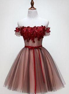 Red Homecoming Dresses, Cute Prom Dresses, Pretty Dresses, Beautiful Dresses, Short Dresses, Girls Dresses, Dress Prom, Quinceanera Dresses Short, Cute Dresses For Teens