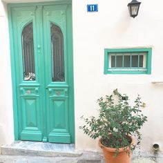 Athens, Greece green door Athens Greece, Places Ive Been, To Go, Doors, Green, Travel, Home Decor, Viajes, Decoration Home