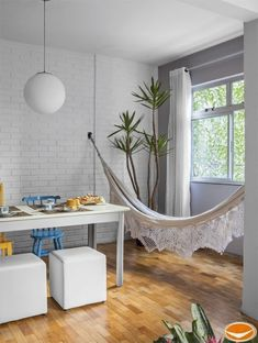 Indoor hammock by a window! No trees! Decor, Interior, Home N Decor, Decor Design, Decor Inspiration, Home Decor, Home Deco, Interior Design, Home And Living