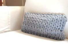 awesome knit for pillow. love the large scale. @Dana Curtis Curtis's joy etsy shop