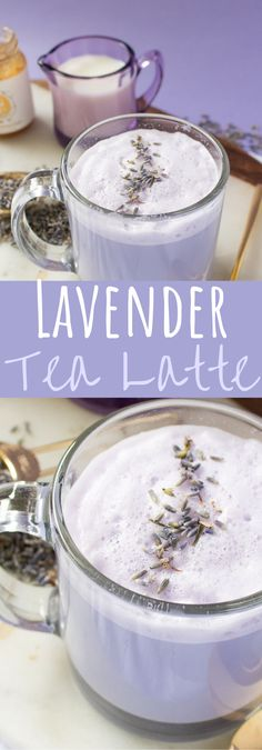 I think I've formally made my most loved pretty drink ever! It doesn't improve for me than this quieting lavender tea latte that is reall. Lavender Latte Recipe, Lavender Drink, Lavender Tea Benefits, Milk Tea Recipes, Calming Tea, Strawberry Mojito, Tea Cocktails, Vegan Blueberry, Tea Latte