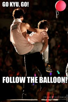 SUPER JUNIOR | Cho Kyuhyun  With TVXQ's Changmin and the red balloon a.k.a. cassiopeia's symbol