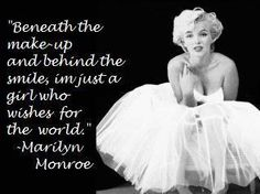 Going to put this quote on my wall above my Marilyn Monroe pic:) Great Quotes, Quotes To Live By, Me Quotes, How I Feel, How Are You Feeling, Marilyn Quotes, Life Advice, Girls Dream, Old Hollywood