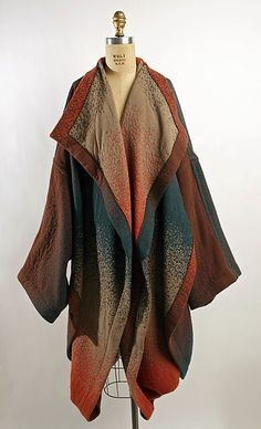 Coat, designer: Hiroko Koshino (Japanese, born 1937), ca. 1983  - wool/synthetic blend
