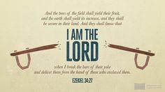 I'm reading Ezekiel 34:27