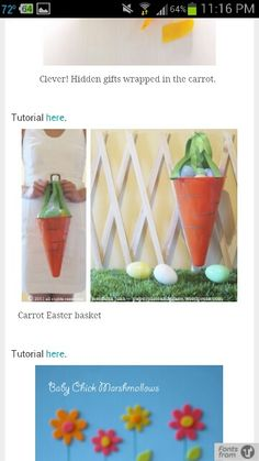 Splash tote such a great easter basket initials inc love it carrot easter basket negle Images
