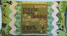 Winter Typography Pillow - Cross Stitch Kit