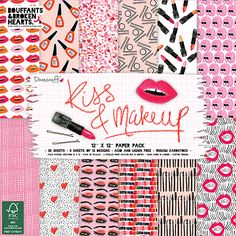 Dovecraft Kiss and Makeup 12x12 Paper Pack (FSC)