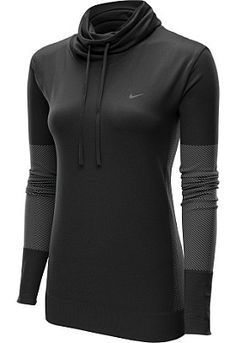 Designed with moisture-wicking fabric and a mesh back panel, this @nikewomen Dri-FIT knit Infinity long-sleeve cover-up keeps you comfortable before, during, and after your workout. #GiftOfSport