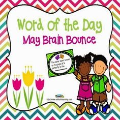 Great game to play at the end of May to assess the kid's knowledge of May words! This great vocabulary game is based on words from our May Word of the Day calendar. It is one of our new Brain Bounce games to help your kiddos practice ELA skills. The teacher can divide the class into 2 teams and have the kids take turns answering questions about these vocabulary words. You can also use these cards in a center or as a Scoot game. $ You can also check out some great writing on our Blog.