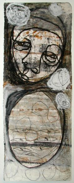 """Putnoi 2008 Mixed Media on Paper """"Never Stop Thinking 6"""""""