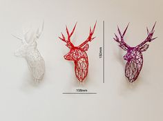 Printed Stag Deer Facing Right by Dotsan on Shapeways. Learn more before you buy, or discover other cool products in Accessories. Impression 3d, Boli 3d, Stylo 3d, 3d Printing Diy, 3d Printed Objects, 3d Laser, 3d Prints, Pen Art, Decoration