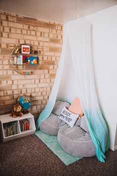 Dearest Lou: Reading Nook for Z with Pillowfort