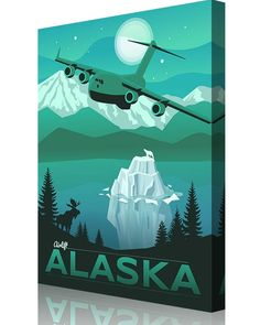 Share Squadron Posters for a 10% off coupon! Alaska C-17 poster – 517th Airlift Squadron #http://www.pinterest.com/squadronposters/