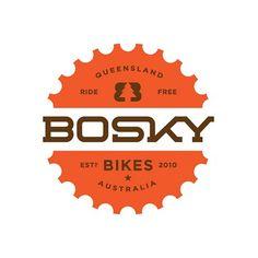 Bosky Bikes logo design by Peters Typography Logo, Logo Branding, Lettering, Bike Logo, Anniversary Logo, Best Logo Design, Graphic Design, Graphic Art, Badge Design