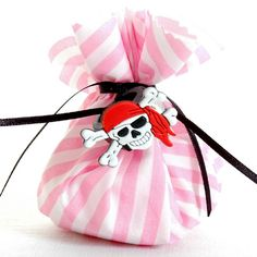 Girl's Pirate Party fabric Party Bag with Toy | Party Parade...party favor?
