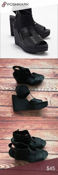 Eileen Fisher wedges shoes Sz 8.5 Eileen Fisher wedges . Sz 8.5. Good condition. Eileen Fisher Shoes Platforms