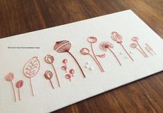 Wild Pods modern hand embroidery pattern por KFNeedleworkDesign