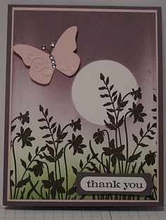 In My Craft Room: Just Believe Brayered Card - CASEd Card Share  ♥ the silhouette effect! Gorgeous!!!