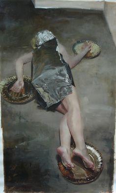 art fart, galleries, art 2d, behance, teodora axent, foil art, 2012, paint, canvases